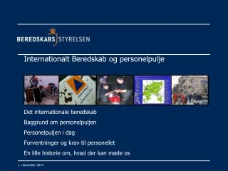 Internationalt Beredskab og personelpulje