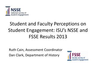Student and Faculty Perceptions on Student Engagement: ISU's NSSE and FSSE Results  2013