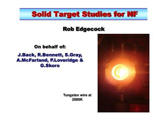 Solid Target Studies for NF