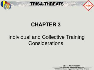 CHAPTER 3  Individual and Collective Training Considerations