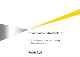 Kommunale Infrastruktur