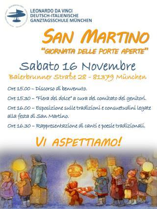 """San Martino """"giornata delle porte aperte"""""""
