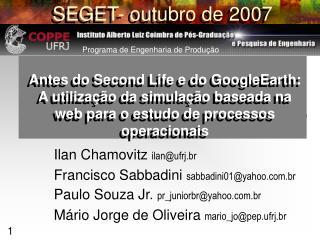 SEGET- outubro de 2007