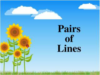 Pairs of Lines
