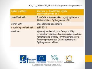 VY_32_INOVACE_M.8.19-Pythagorova věta-prezentace