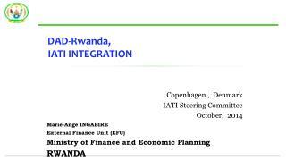DAD-Rwanda ,  IATI INTEGRATION