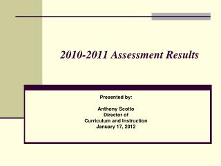 2010-2011 Assessment Results