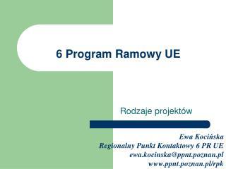 6 Program Ramowy UE