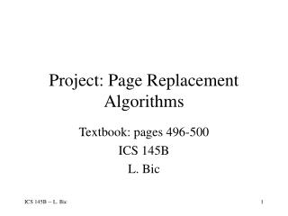 Project: Page Replacement Algorithms