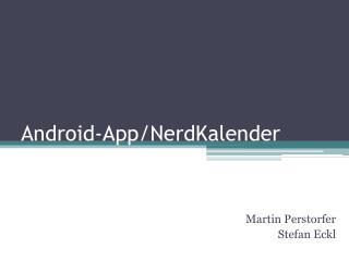 Android-App/ NerdKalender