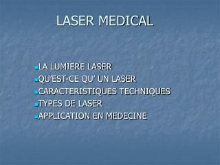 LASER MEDICAL
