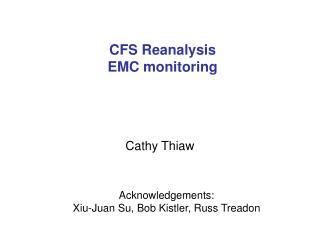 CFS Reanalysis EMC monitoring