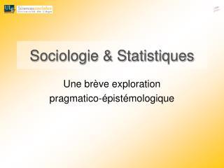 Sociologie  Statistiques