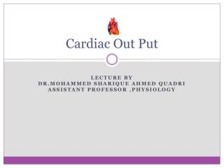 Cardiac Out Put