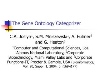 The Gene Ontology Categorizer
