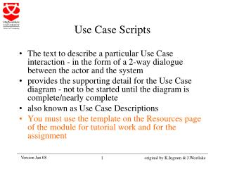 Use Case Scripts