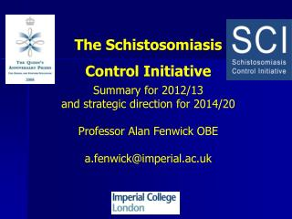 The  Schistosomiasis Control Initiative  Summary for 2012/13  and strategic direction for 2014/20