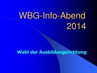 WBG-Info-Abend                                       2014