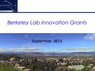 Berkeley Lab Innovation Grants