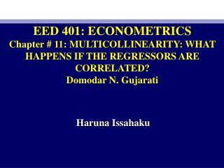 EED 401: ECONOMETRICS