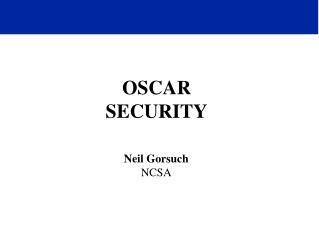 OSCAR SECURITY