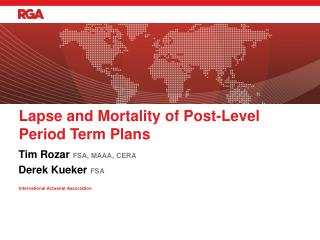 Lapse and Mortality of Post-Level Period Term Plans