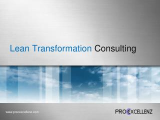 Lean Transformation  Consulting