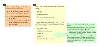 Start a new, blank presentation with a blank slide layout: File: New Blank presentation