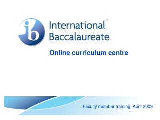 Online curriculum centre