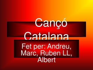 Cançó Catalana