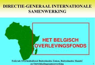 DIRECTIE-GENERAAL INTERNATIONALE SAMENWERKING