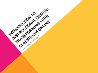 Introduction to Instructional Design  Developing an Instructional Strategy