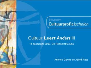 Cultuur  Leert  Anders  III