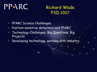 Richard Wade PSD  2007
