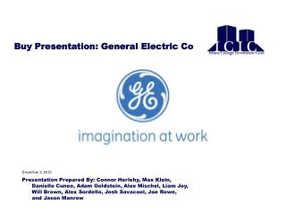 Buy Presentation: General Electric Co