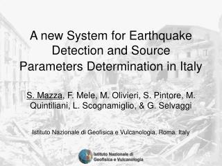 Istituto Nazionale di Geofisica e Vulcanologia, Roma, Italy