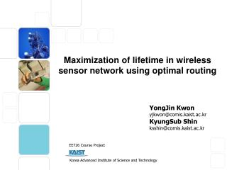 Maximization of lifetime in wireless sensor network using optimal routing