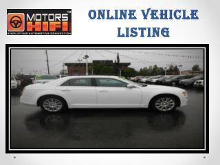 Online Vehicle listings