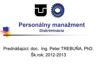 Personálny manažment Diskriminácia