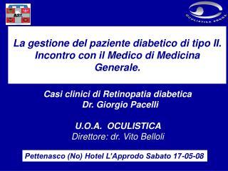 La gestione del paziente diabetico di tipo II.  Incontro con il Medico di Medicina Generale.