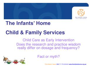 Child Care as Early Intervention