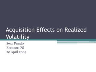 Acquisition Effects on Realized Volatility