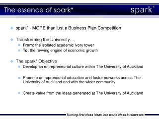 The essence of spark*