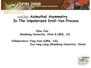 Azimuthal Asymmetry        In The Unpolarized Drell-Yan Process