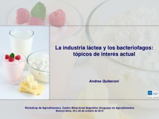 La industria láctea y los bacteriofagos:  tópicos de interés actual
