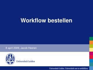 Workflow bestellen