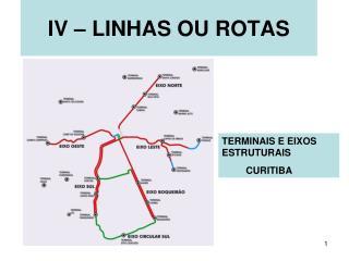 IV – LINHAS OU ROTAS
