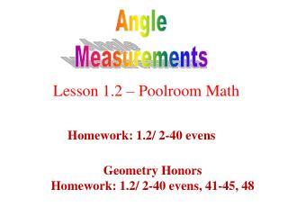 Angle Measurements