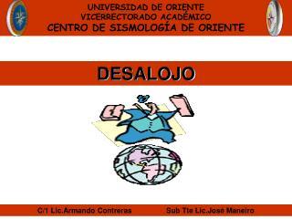 UNIVERSIDAD DE ORIENTE VICERRECTORADO ACADÉMICO CENTRO DE SISMOLOGÍA DE ORIENTE