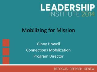 Mobilizing for Mission